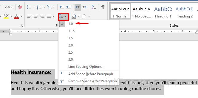 Cách Cài Double Line Spacing trong MS Word 2016 - 2019