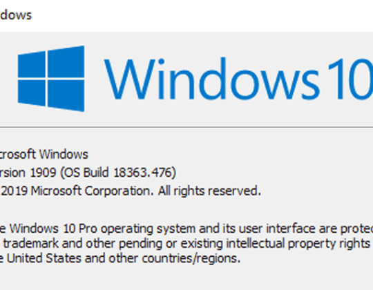 Check What Version of Windows 10 Running on Your Computer