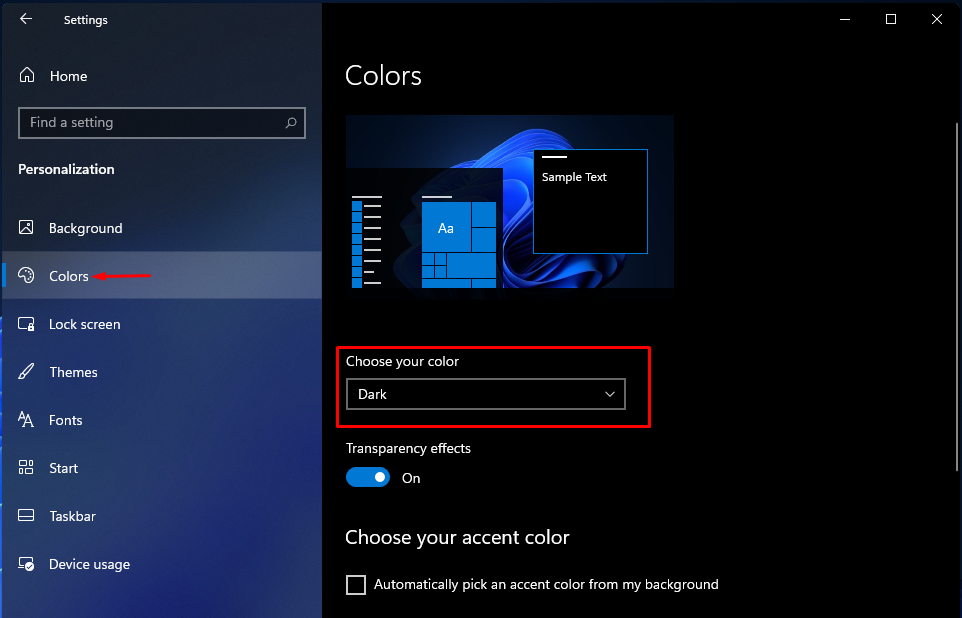 Disable Dark Mode on Windows 11 6