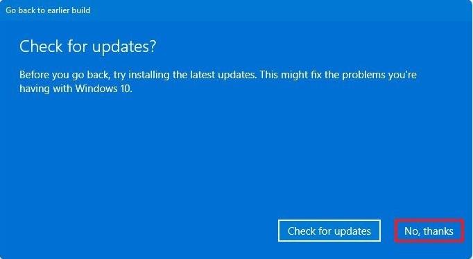 Downgrade from Windows 11 to Windows 10 2