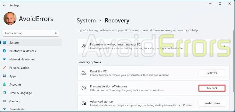 Downgrade from Windows 11 to Windows 10 6