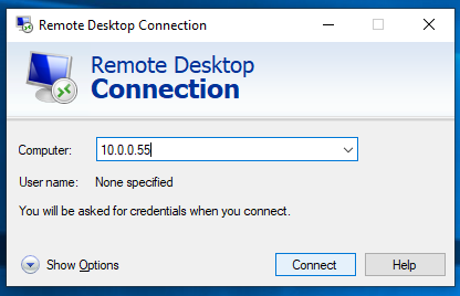 Remote Desktop Raspberry PI from Windows 1